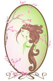 Spring beauty vector Royalty Free Stock Images