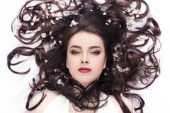 Spring beauty or woman cosmetics consept. Fashion portrait shot Stock Photo