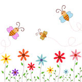 Spring Bees Stock Images