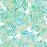 Spring berries seamless pattern background Royalty Free Stock Photo