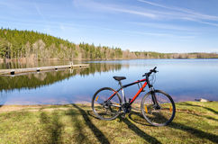 Spring bicycle tour Royalty Free Stock Photo