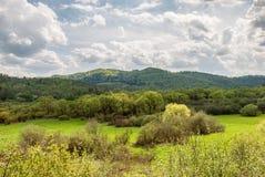 Spring in Bieszczady Mountains. Rajskie, Poland Stock Photography