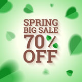 Spring big sale banner. Stock Photos