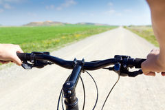 Spring Biking Stock Photography