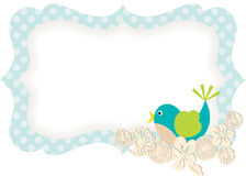 Spring Bird Gift Tag Stock Photography