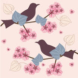 Spring birds Stock Images