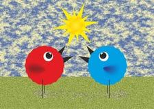 Spring birds Royalty Free Stock Image