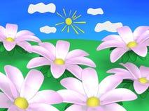 Spring bloemen op. stock illustratie