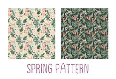 Spring blooming pattern Royalty Free Stock Photo