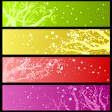 Spring blossom banners Royalty Free Stock Photo
