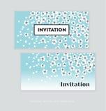 Spring blossom invitation card template. Royalty Free Stock Photos