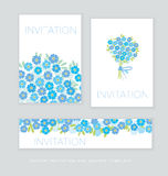 Spring blossom invitation card template. Stock Photography