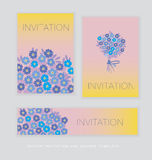 Spring blossom invitation card template. Stock Images