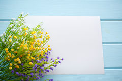 Spring Blossom over wood background. royalty free stock photography