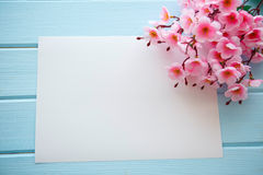 Spring Blossom over wood background. royalty free stock photos