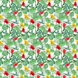 Spring blossoming botanic pattern Royalty Free Stock Photos