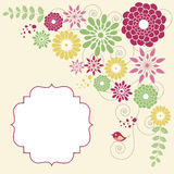 Spring blossoms card Stock Image