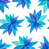Spring blue watercolor seamless background Royalty Free Stock Images