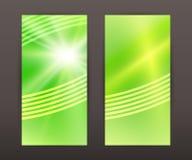 Spring blur star vertical banner set back front presentation lea. Advertisement flyer design elements. Modern style Design website banners background page Royalty Free Stock Images