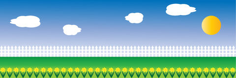 Spring Border. Beautiful spring border ideal for easter cards, vector Royalty Free Stock Image