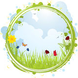 Spring Border Stock Image