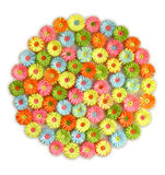 Spring bouquet. Flower composition in the form of a circle Stock Photo
