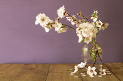 Spring bouquet of cherry tree branches Royalty Free Stock Photos