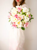 Spring bouquet with double tulips Stock Photos