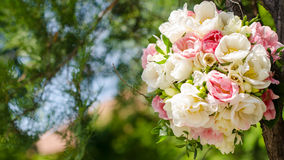 Spring bouquet with double tulips Royalty Free Stock Image