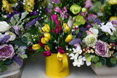Spring bouquet of handwork. Royalty Free Stock Photo