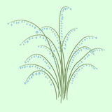 Spring bouquet of lilies of the valley. vector illustration. Royalty Free Stock Images