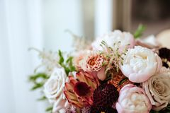Spring bouquet of mixed flowers stock image