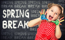 Spring break concept Royalty Free Stock Images