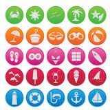 Spring break cute icon set Royalty Free Stock Photo