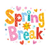 Spring break. Decorative lettering type design Stock Photos