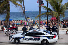 Spring Break - Ft Lauderdale Secutity Royalty Free Stock Image