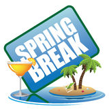 Spring break icon. 