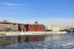 Spring break on the Moscow River stock photography
