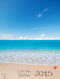 Spring break 2015 on the sand Royalty Free Stock Photo