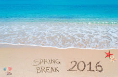 Spring break 2016 on the sand Royalty Free Stock Photography