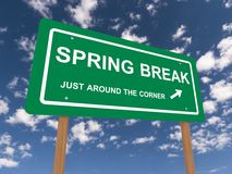 Spring break sign Stock Photos
