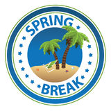 Spring Break stamp Stock Photography