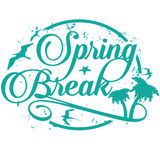 Spring break stamp isolated on white Stock Photography