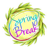 A spring break template Royalty Free Stock Photography