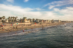 Spring break time. A wide beautiful view of the spring break time at the beach of imperial beach in california stock images