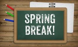 Spring Break written in chalk on chalk board Royalty Free Stock Photography