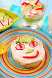 Spring breakfast for child Stock Images