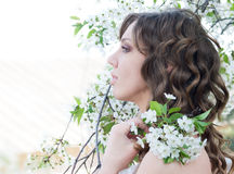 Spring bride Royalty Free Stock Image