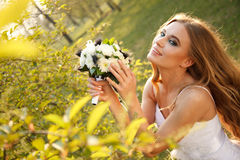 Spring bride Stock Images