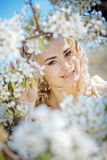 Spring bride portrait Stock Image